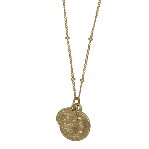 Coin small / big head necklace