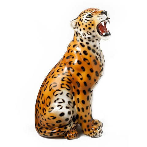 Ceramic leopard large