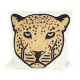 Small beads cushion leopard head