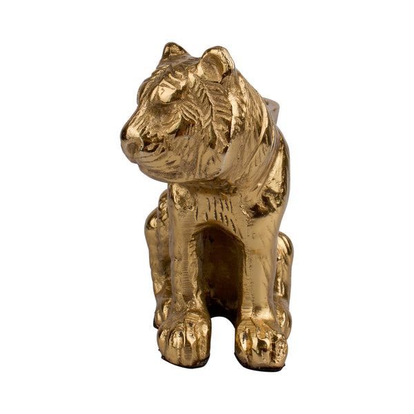 Small sitting tiger candle holder
