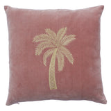 Velvet cushion cover old pink