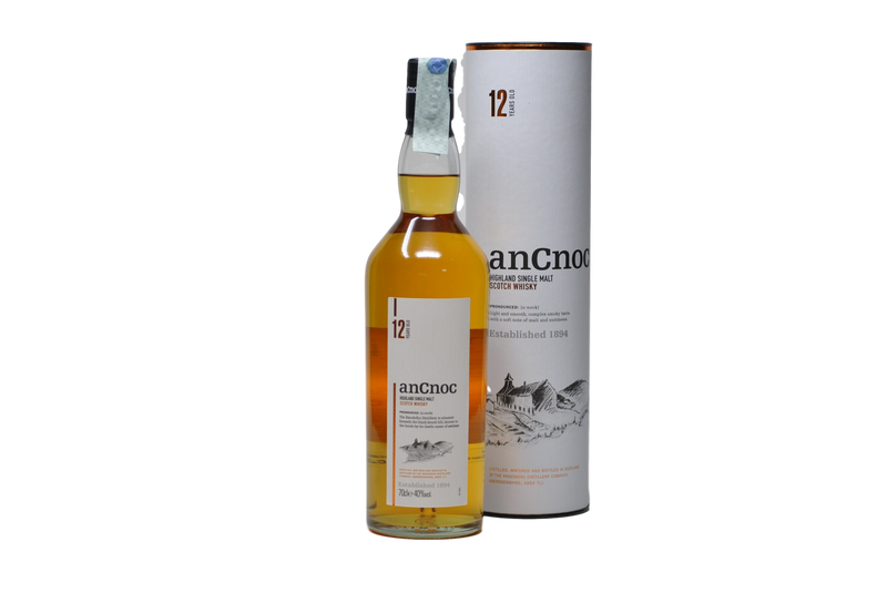 "Highland Single Malt Scotch Whisky ""AnCnoc"" 12 years old - Knockdhu Distillery (0.7l)"