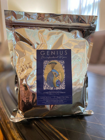 Genius Disinfecting Wipes from the Winter Park Distilling Company