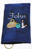 Personalized Bowling Towel - Team Towels - Machine Embroidery