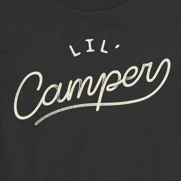 Lil' Camper - Boys - Youth Short Sleeve T-Shirt - NightSky