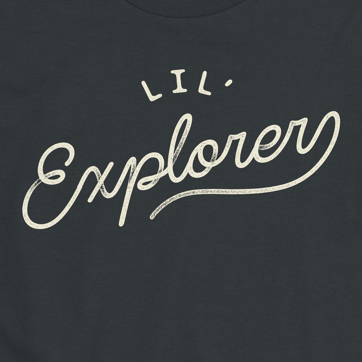 Lil' Explorer - Infant -  Youth Short Sleeve T-Shirt - Black