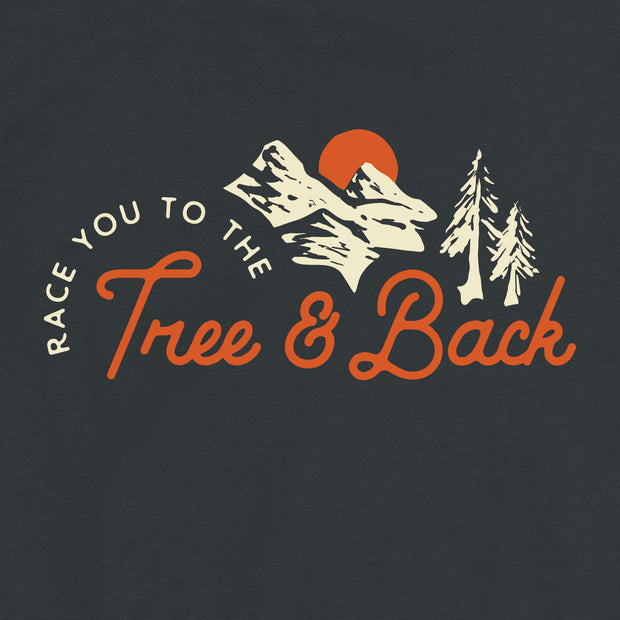 Tree And Back Mantra - Unisex - Adult Short Sleeve T-Shirt