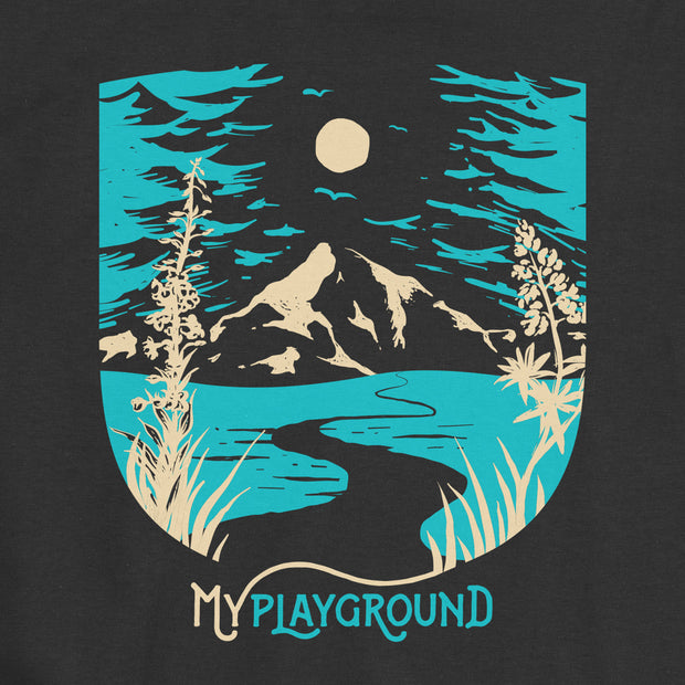 My Playground - Mountain - Girls - Youth Short Sleeve T-Shirt