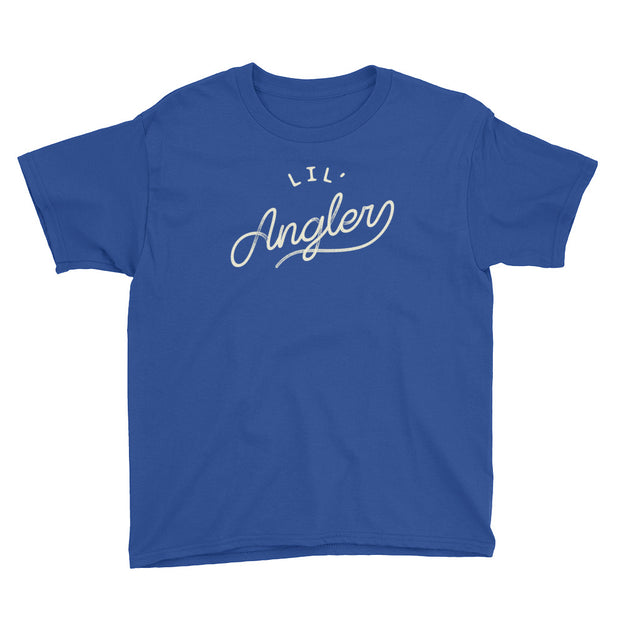 Lil' Angler - Boys - Youth Short Sleeve T-Shirt - RoyalBlue