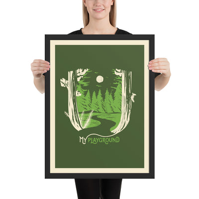 My Playground - Forest Reversed - Framed photo paper print