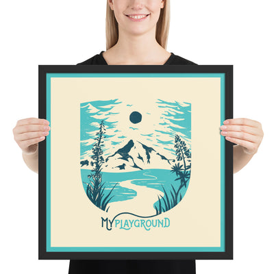 My Playground - Mountain - Framed photo paper print