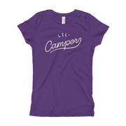 Lil' Camper - Girls -  Youth Short Sleeve T-Shirt - Eggplant