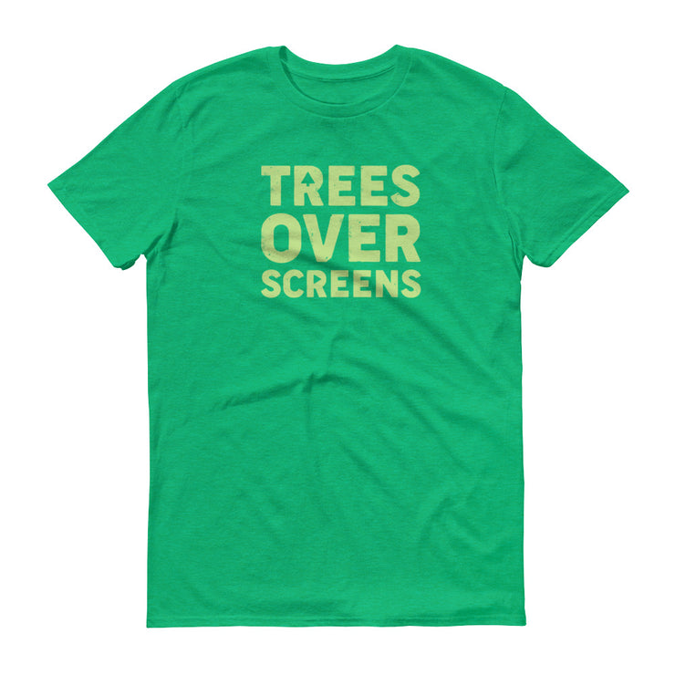 Trees Over Screens - Green - Unisex - Adult Short Sleeve T-Shirt