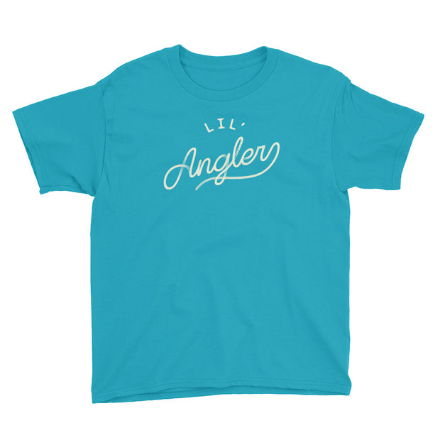 Lil' Angler - Boys - Youth Short Sleeve T-Shirt - AquaMarine