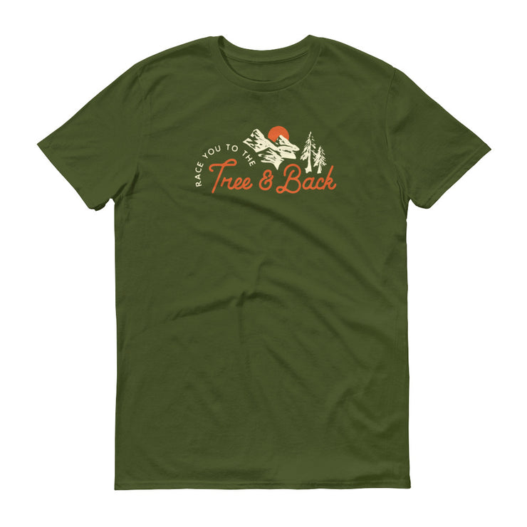 Tree And Back Mantra - Green - Unisex - Adult Short Sleeve T-Shirt