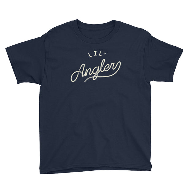 Lil' Angler - Boys - Youth Short Sleeve T-Shirt - Navy