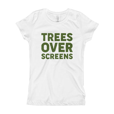 Trees Over Screens - Forest - Girls - Youth Short Sleeve T-Shirt