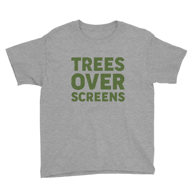 Trees Over Screens - Forest - Boys - Youth Short Sleeve T-Shirt