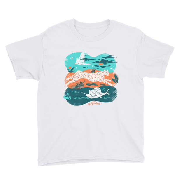 Coolest Animals - The Fastest - Boys - Youth Short Sleeve T-Shirt