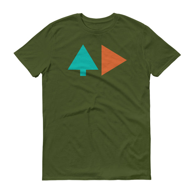 Tree and Back - Green - Unisex - Adult Short Sleeve T-Shirt