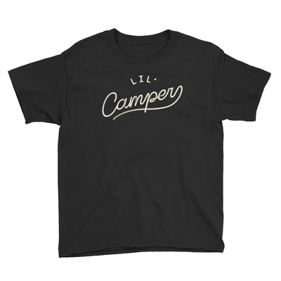 Lil' Camper - Boys - Youth Short Sleeve T-Shirt - Black