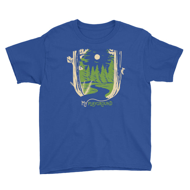My Playground - Forest - Boys - Youth Short Sleeve T-Shirt