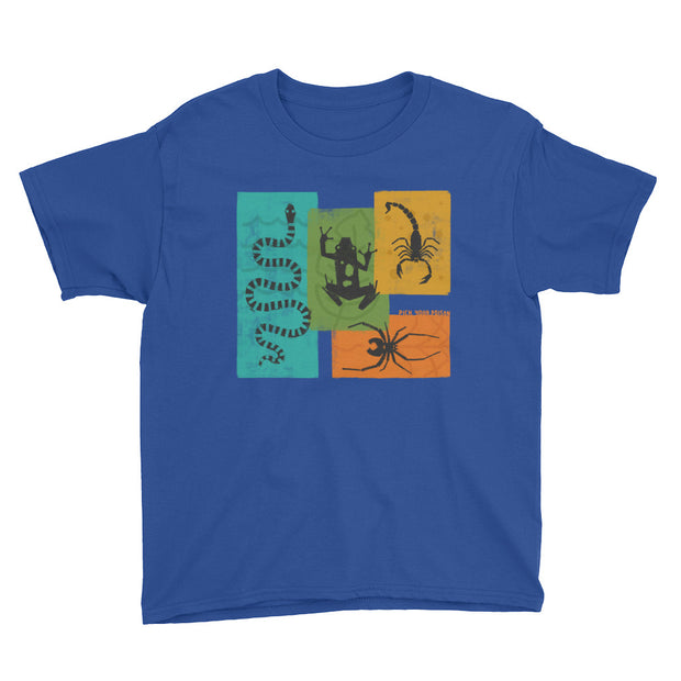 Apex Animals - Pick Your Poison - Blue - Boys - Youth Short Sleeve T-Shirt