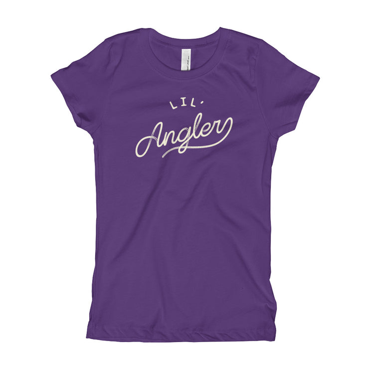Lil' Angler - Girls - Youth Short Sleeve T-Shirt - Eggplant