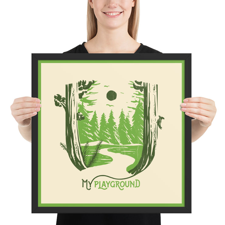 My Playground - Forest - Framed photo paper print