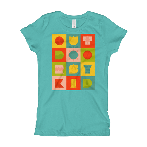 Outdoorsy Kid - Girls - Youth Short Sleeve T-Shirt