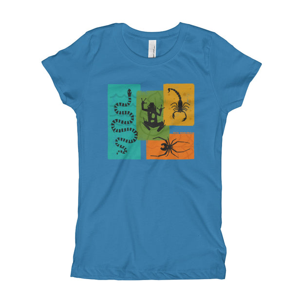 Apex Animals - Blue - Pick Your Poison - Girls - Youth Short Sleeve T-Shirt