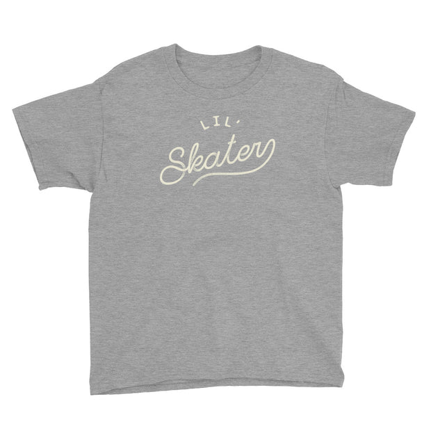 Lil' Skater - Boys - Youth Short Sleeve T-Shirt - Heather Grey