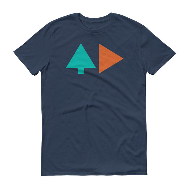 Tree and Back - Grey Blue - Unisex - Adult Short Sleeve T-Shirt