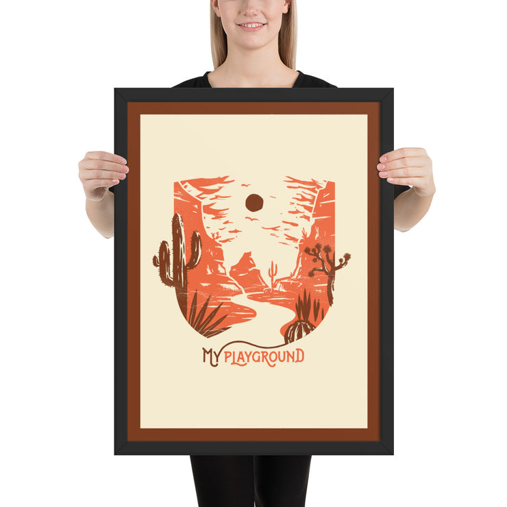 My Playground - Desert - Framed photo paper print