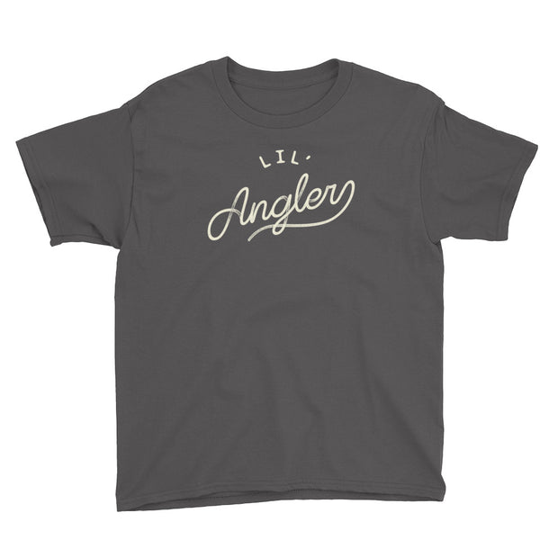 Lil' Angler - Boys - Youth Short Sleeve T-Shirt - Grey