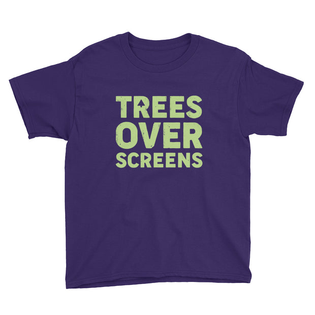 Trees Over Screens - Lime - Boys - Youth Short Sleeve T-Shirt