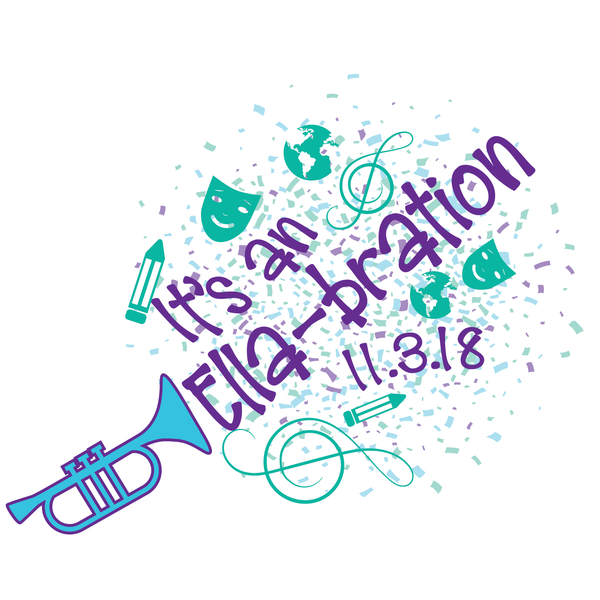 Trumpet Music Bat Mitzvah Logo Design