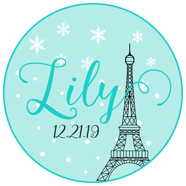 Winter in Paris Bat Mitzvah Logo