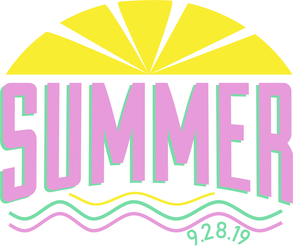 Summer Bat Mitzvah Logo Design