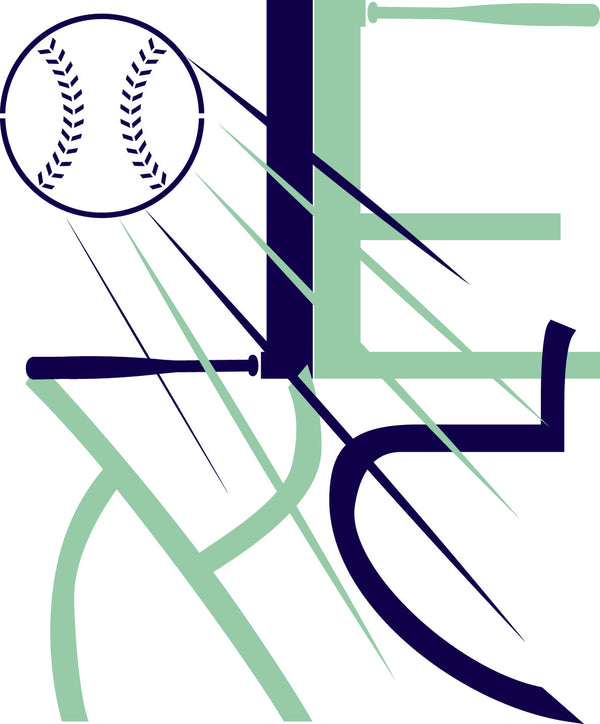 Baseball Hebrew Bar Mitzvah Logo Design