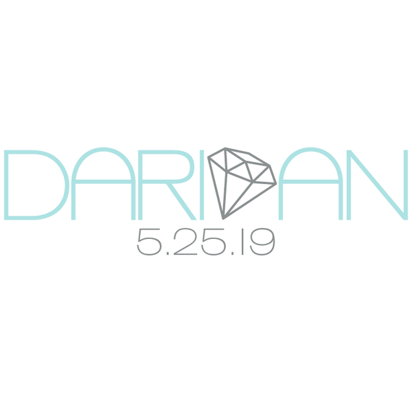 Diamond Bat Mitzvah Logo Design