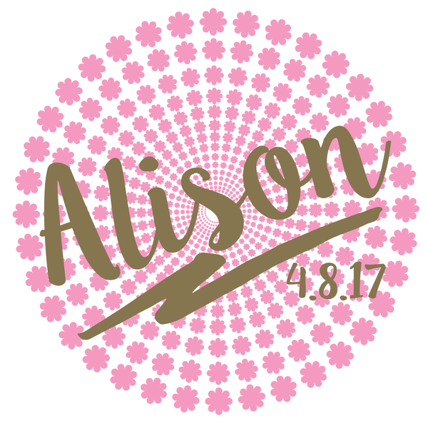 Flower Bat Mitzvah Logo Design
