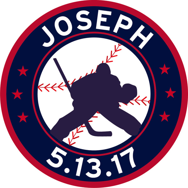 Hockey Baseball Bar Mitzvah Logo Design