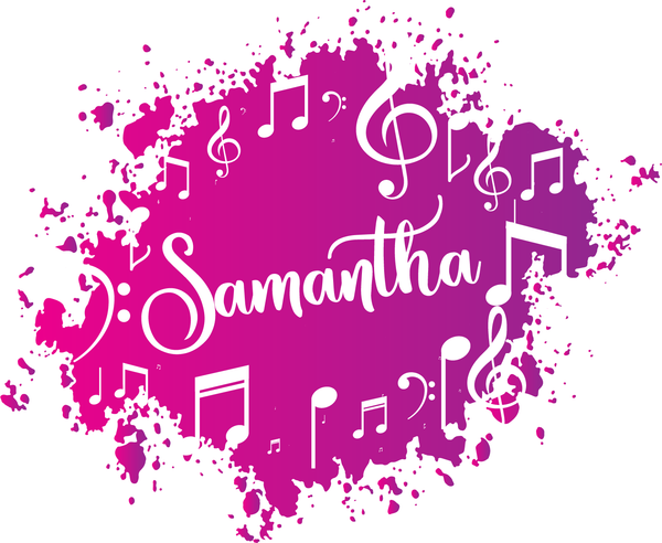 Musical Notes Bat Mitzvah Logo