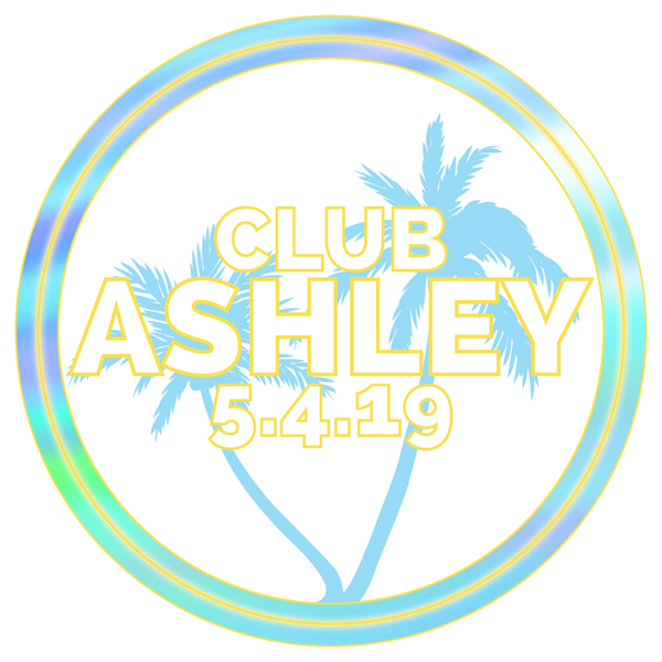 Neon Summer Bat Mitzvah Logo Design