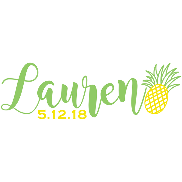 Pineapple Bat Mitzvah Logo Design