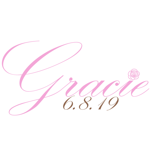 Rose Bat Mitzvah Logo Design