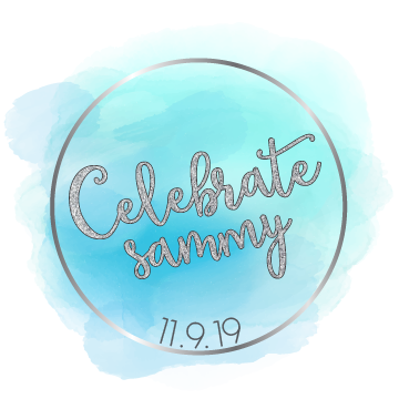 Celebrate Sammy Bat Mitzvah Logo Design