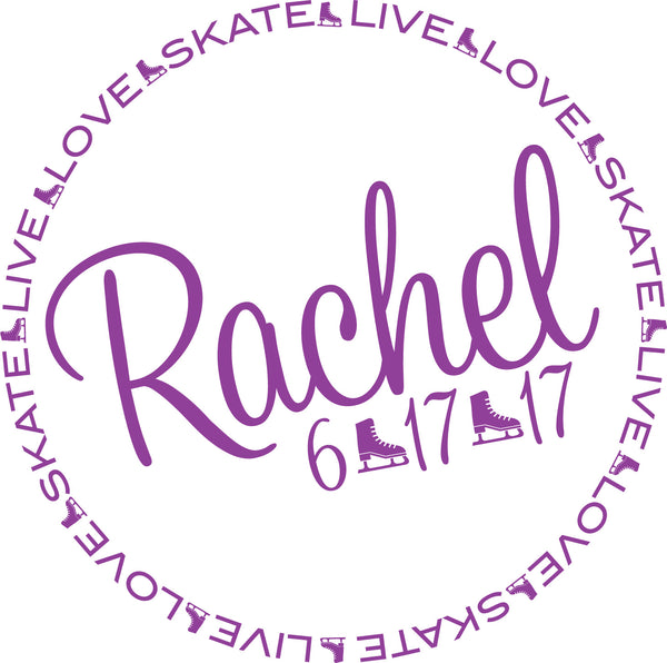 Ice Skating Bat Mitzvah Logo Design