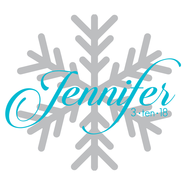 Winter Snowflake Bat Mitzvah Logo Design